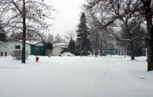 А это уже самые маленькие. С таких вообще с начала зимы снег никто не убирает.